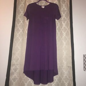 LulaRoe Carly Hi-Lo Dress in Eggplant Purple